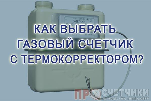 газовый счетчик с термокорректором плюсы и минусы